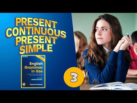 #3 Тренажёр по учебнику Мёрфи синий.  Present Continuous / Present Simple.  Базовый уровень