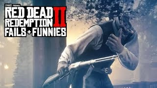 Red Dead Redemption 2 - Fails & Funnies #4 (Random & Funny Moments)