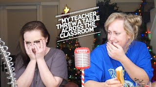 Reacting to Your College Horror Stories! (feat. Brittany Broski) | Sarah Schauer