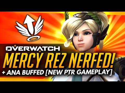 Overwatch   Mercy Resurrection NERFED + Ana BUFFED - NEW PTR Gameplay