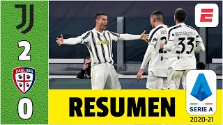 Juventus 2-0 Cagliari. Doblete de Cristiano Ronaldo devuelve el triunfo a los de Pirlo | Serie A