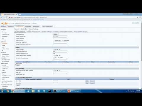 Aruba Controller: Access Point Configuration And Setup