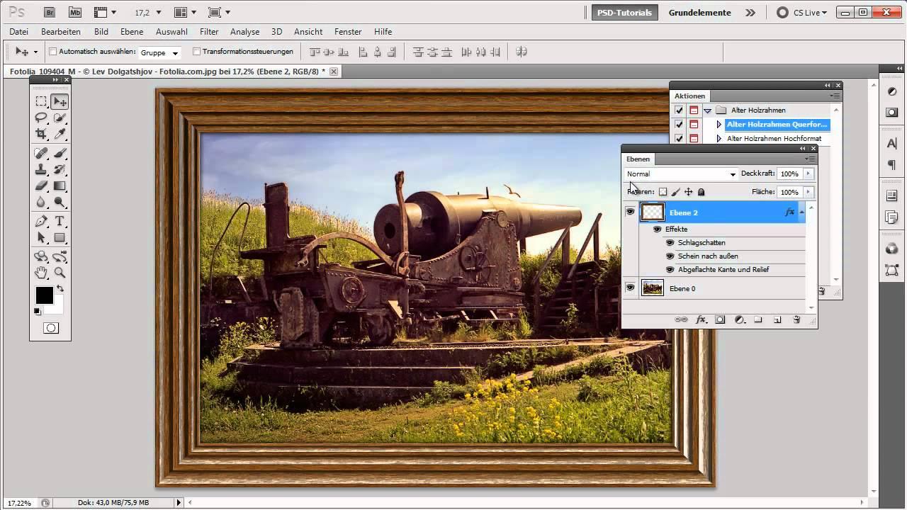 Photoshop Tutorial: Aktionen richtig anwenden - YouTube