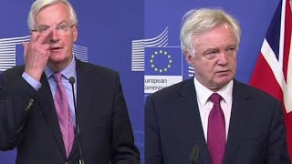 EU Chief Negotiator Michel Barnier & Brexit Secretary David David Press Conference