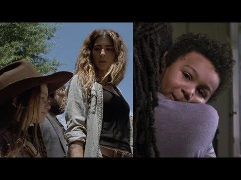 SPOILERS! BOTH NEW SNEAK PEEKS episode 7 examined! IS RJ REAL? WHERES MAGGIE? TWD Season 9