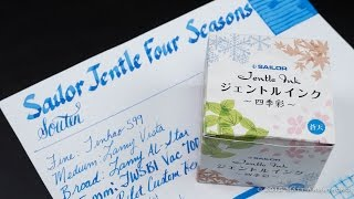Ink Spot Review: Sailor Jentle Four Seasons Souten (Azure Sky)