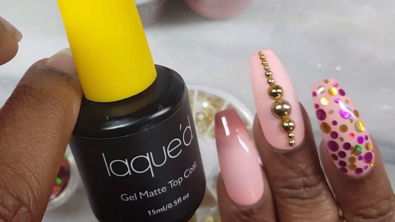 Laque'd Matte Gel Polish Review | Watch Me Work | Nails Art Tutorial