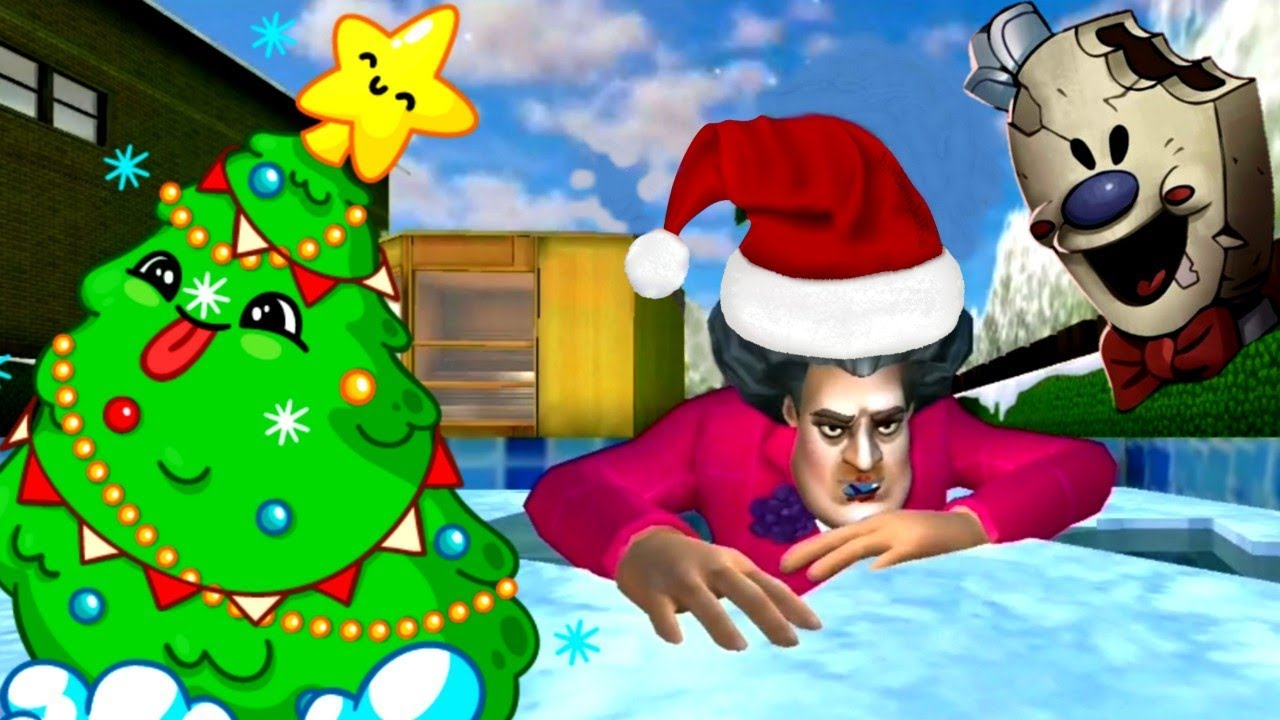 SCARY TEACHER 3D - NEW Christmas Levels Update - Gameplay Walkthrough - Android Gameplay Granny