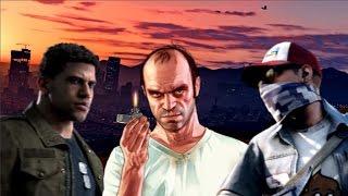 Mafia 3 vs Watch Dogs 2 vs GTA 5 Glitch Comparison