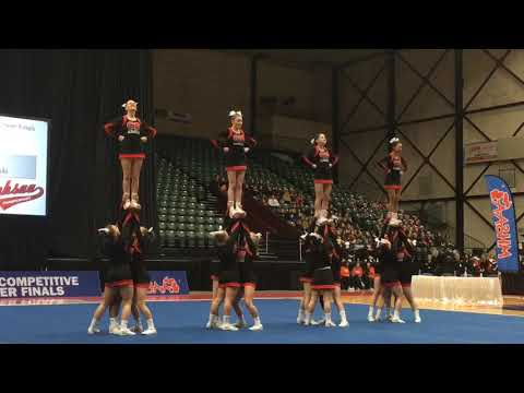 Cedar Springs' Round 3 at the 2019 MHSAA competitive cheer state finals