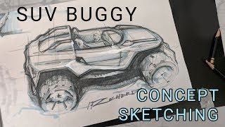Car Design SPEED SKETCHING - Off Road Buggy