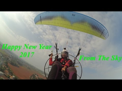 Happy New Year 2017 from the sky