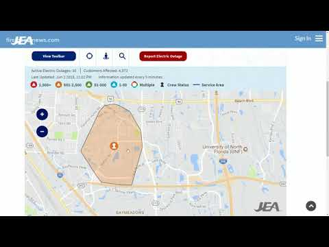 Power Outage Map Jea.Jea Working To Restore Power To Thousands On The Southside Youtube
