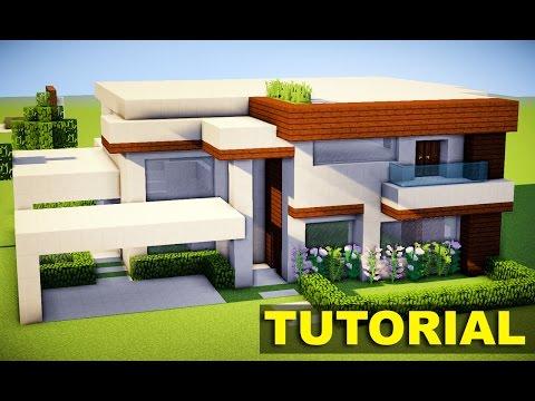 Minecraft como construir uma mans o moderna 3 parte 1 for Casa moderna para minecraft pe 0 14 0