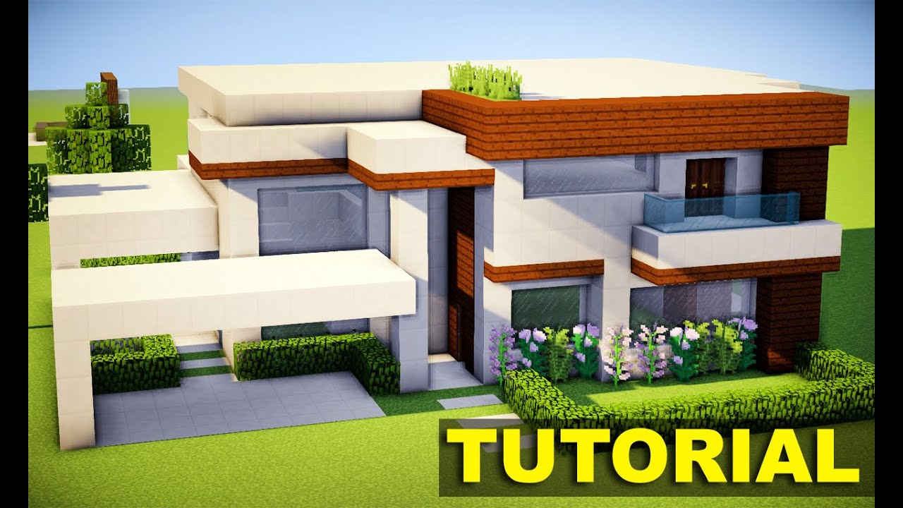 Minecraft tutorial como fazer a mans o moderna for Casas modernas no minecraft