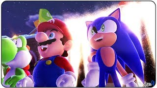 Mario and Sonic at the Sochi 2014 Olympic Winter Games (Wii U) - Legends Showdown Area 1