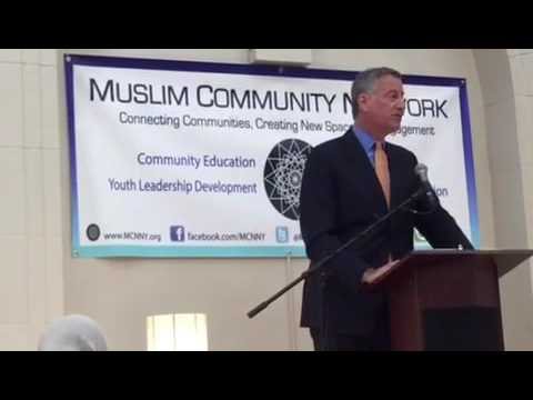 NYC Mayor Acknowledging NYPD Muslim Officers