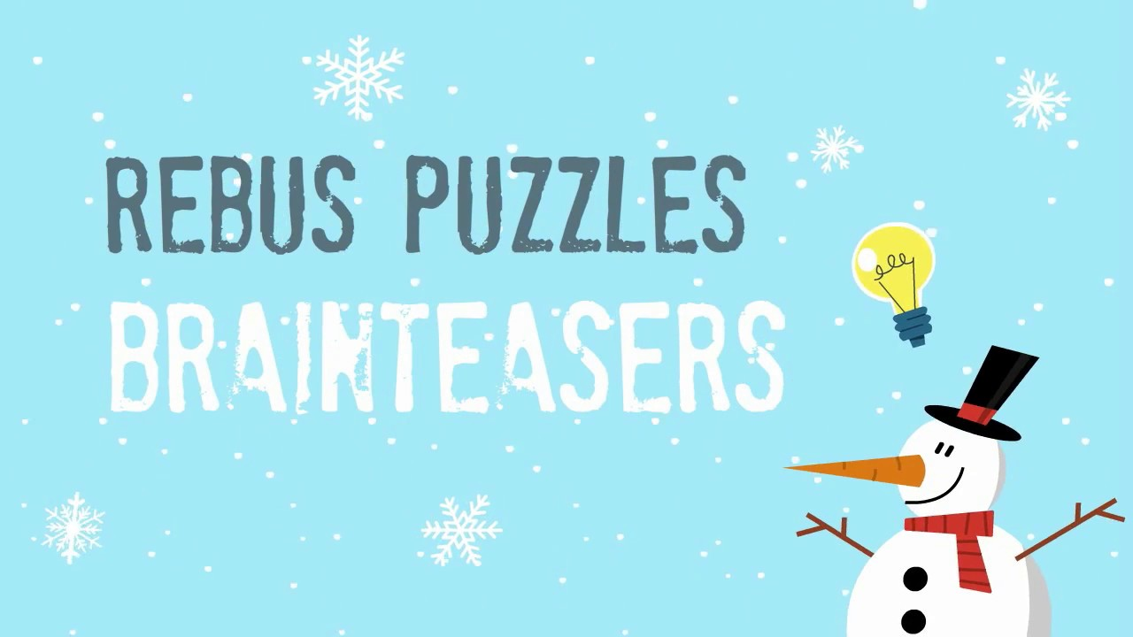 Christmas Rebus Puzzles With Answers.Rebus Puzzle For Christmas