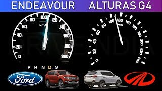 Ford Endeavor 3.2 vs Mahindra Alturas G4 | 0-100 Acceleration | Speed test