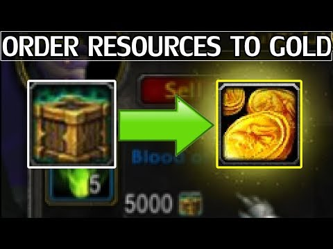 Convert Order Hall Resources To Gold - WoW Legion