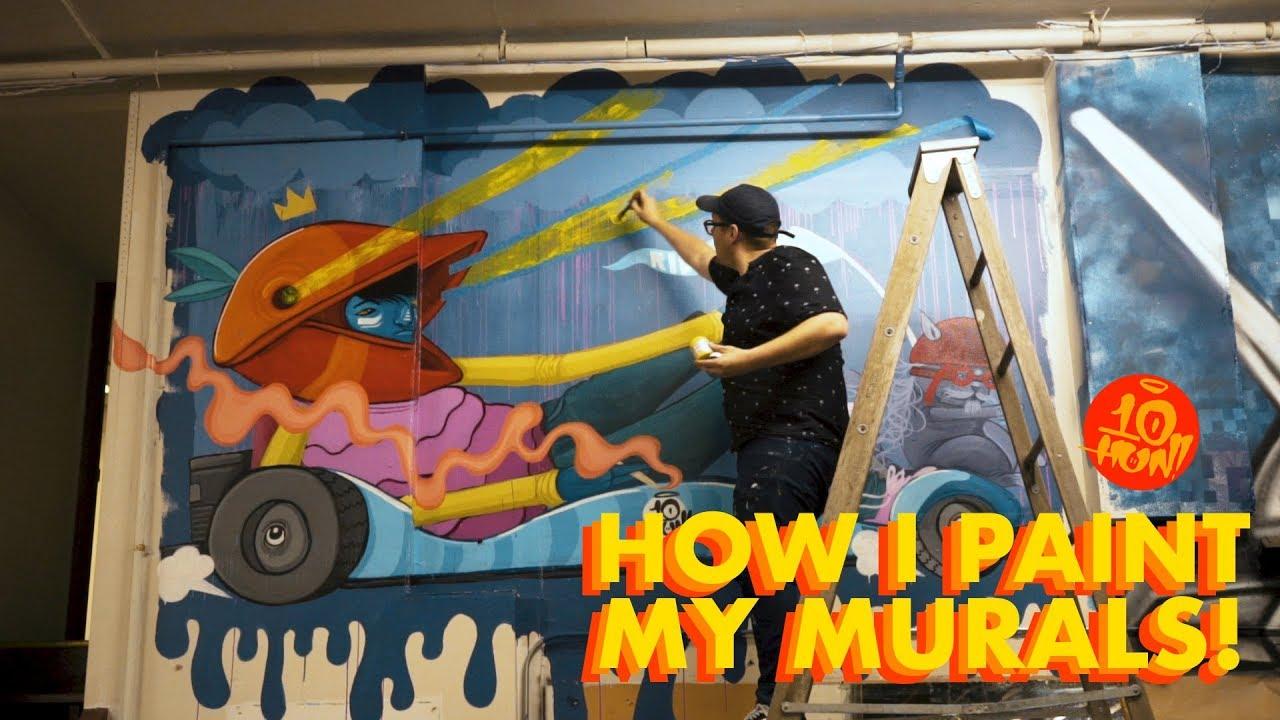How I Paint Murals Mural Tutorial Video You