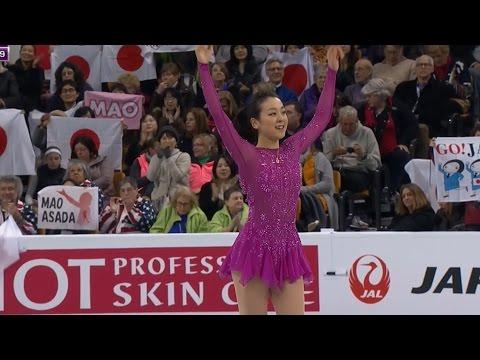 Mao Asada - Short Program - 2016 World Figure Skating Championships - Boston USA