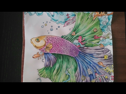 Speed painting animorphia con lápices acuarelables / Animorphia speed painting with watercolors