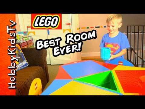 Worlds BEST LEGO ROOM! Toys+Surprise Makeover Loft for HobbyFrog HobbyKidsTV