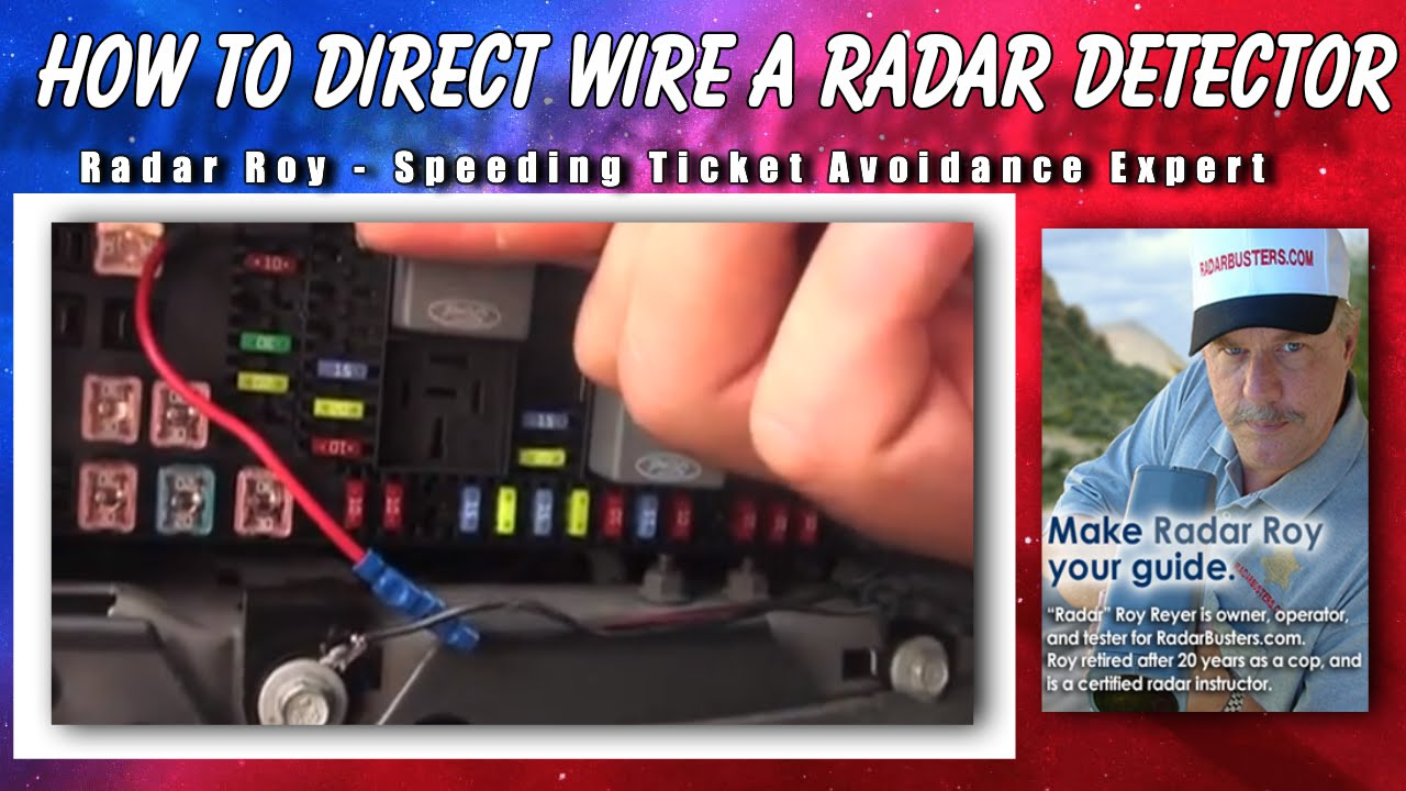 maxresdefault how to direct wire radar detector youtube how to wire a radar detector to fuse box at webbmarketing.co