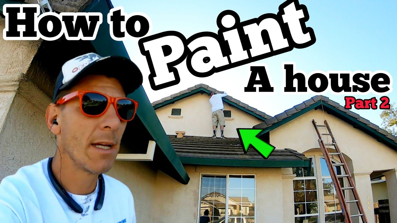How to FIX STUCCO CRACKS // How to Paint a House PART 2