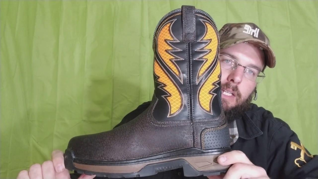 9fcf7b3770f Ariat venttek work boots review work men's Workhog orange Vent Tek square  composite toe work boots