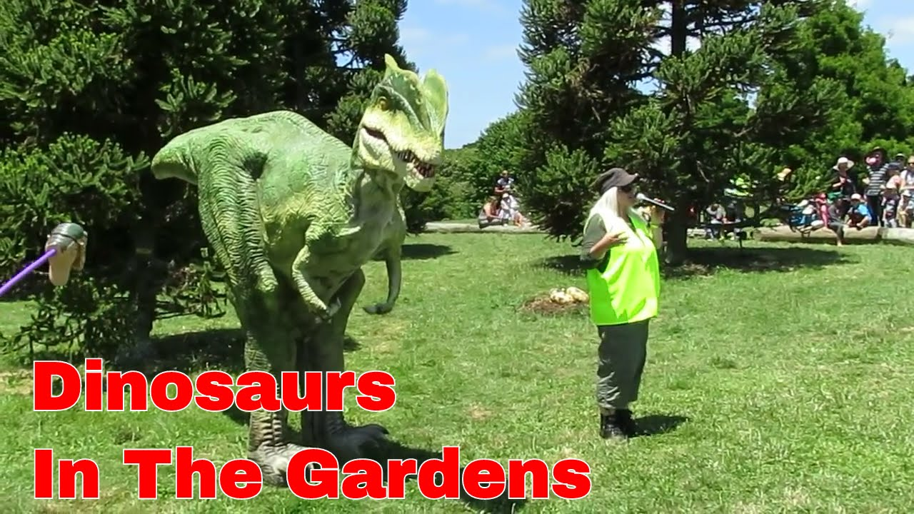 Dinosaurs in the Gardens 01 Auckland Botanic Gardens YouTube