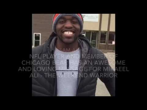 SAM ACHO FROM CHICAGO BEARS has a loving message for Mikaeel Ali