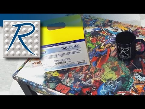 diy comic book desk. how to finish your decoupage project with the perfect clear coat diy comic book desk