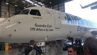 Avión de Air Europa rotulado con el nombre de la Guardia Civil