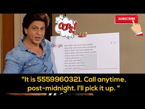 Shah Rukh Khan Answers The Google's  Most Searched Questions