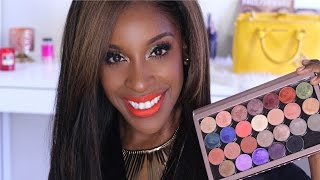 Makeupgeek HAUL + Swatches. FOILED Shadows | Jackie Aina