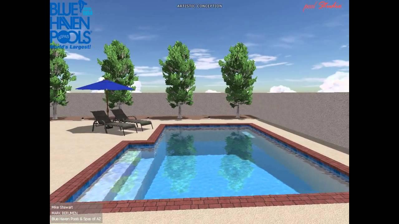 MS BHAZ Pool Studio 3D Swimming Pool Design YouTube