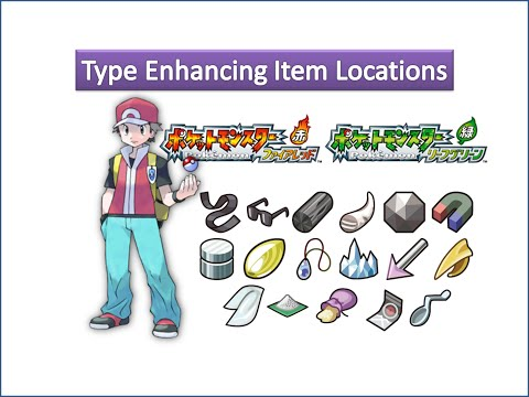 Pokemon Fire Red & Leaf Green - Type Enhancing Item Locations
