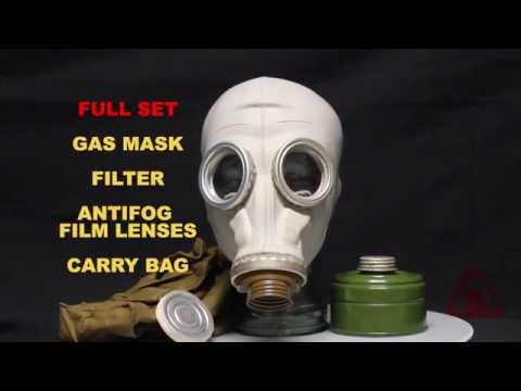 GP5 BLACK AND GREY GAS MASK