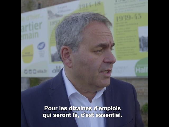 ALILA - Première pierre d'HALL'YS à Halluin (59) - Xavier BERTRAND - Pr. des Hauts-de-France
