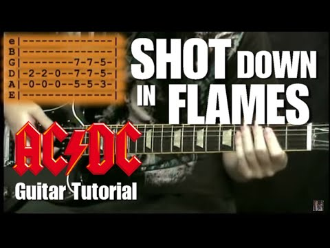 Shot Down in Flames - (AC/DC) Lesson music