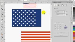 Bandera Estados Unidos en Corel Draw
