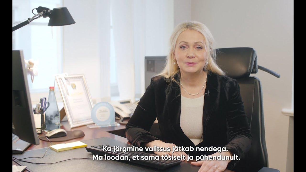 Rahvastikuminister Riina Solmani tänukõne ametist lahkumisel