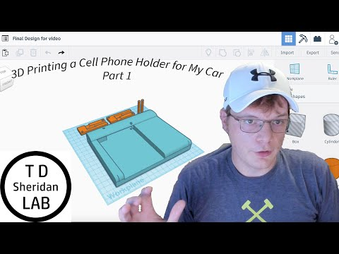 Design and 3D Print a Cell Phone Holder for a 2021 Subrau Crosstrek Part 1- LAB Challenge