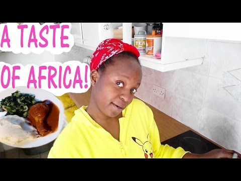 COOK WITH ME 2017 - AFRICAN FOOD - CHICKEN, POUNDED YAM & VEG #1