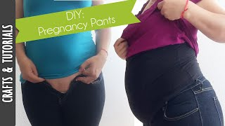 DIY: Pregnancy pants, save money fixing your pants! - The290ss