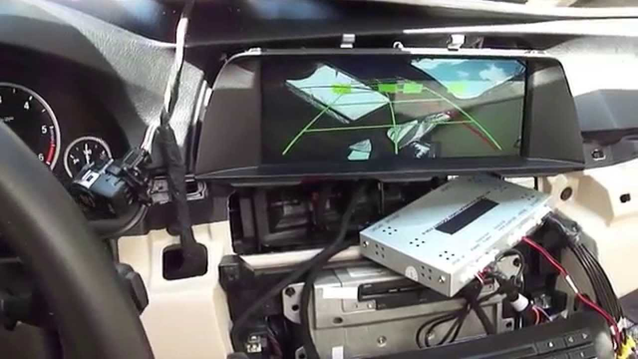 medium resolution of bmw f10 2013 nbt navigation 6 pin lcd oem style aftermarket rear cam www bmwtuning hu youtube