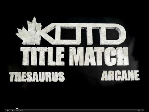 KOTD - Rap Battle - TheSaurus vs Arcane (Title Match) | #WD1