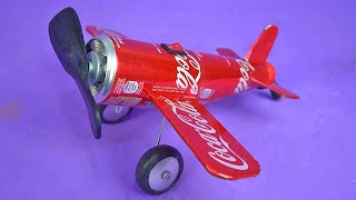 Making an Awesome Mini Airplane Fan with Soda Cans